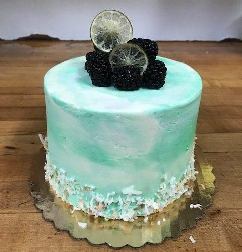 Blackberry Coconut Margarita Cake